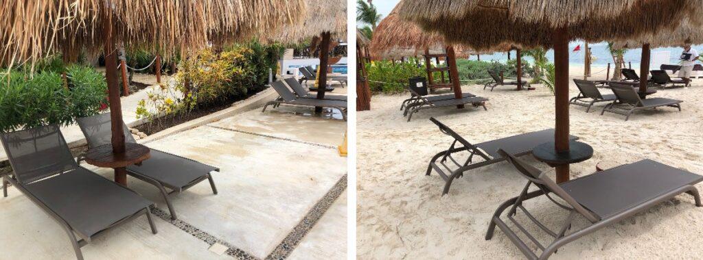 Cancun beach pools